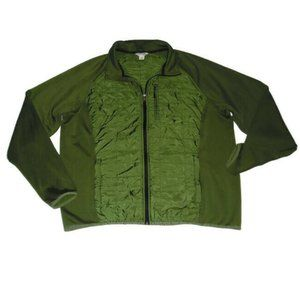 Orvis Sno-Bird Hybrid Jacket Green Zip Up